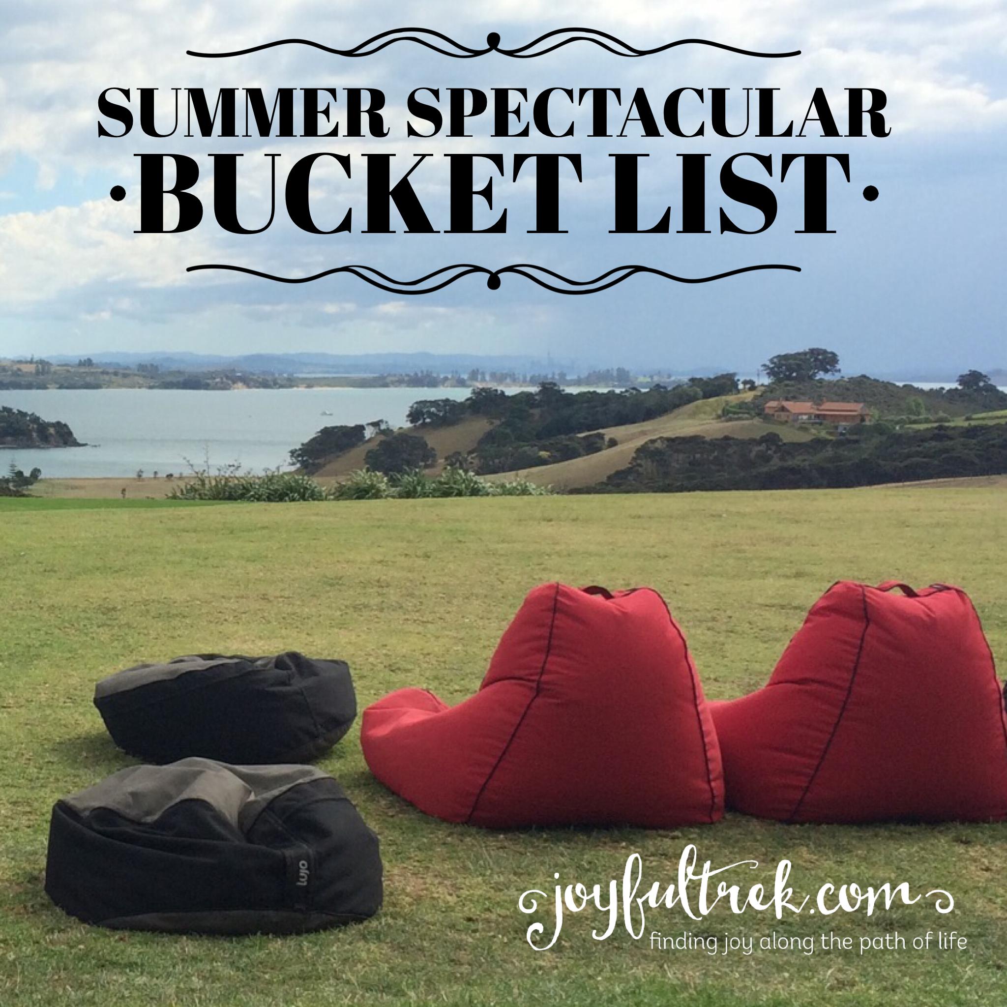 Summer Spectacular Bucket List